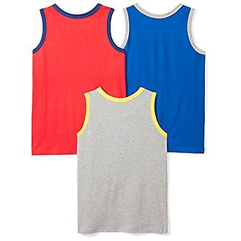 Spotted Zebra Little Boys' 3-Pack Sleeveless Tank Tops, Go Banana, Small (6-7)