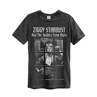 David Bowie T Shirt Rise And Fall new Official Mens Amplificado Vintage Carvão