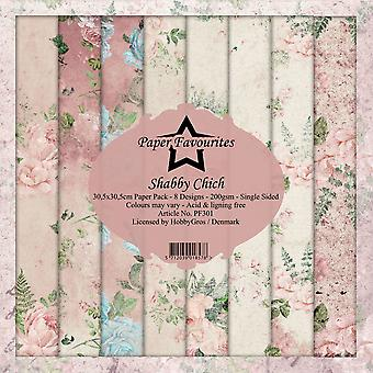 Dixi Craft Paper Favourites Shabby Chic 12x12 Inch Paper Pack