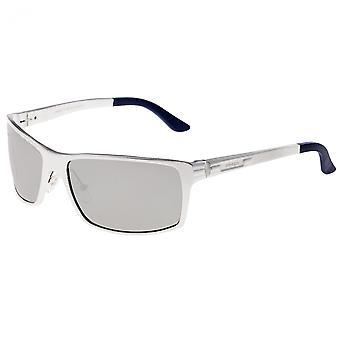 Breed Kaskade Aluminium Polarized Sunglasses - Silver/Silver