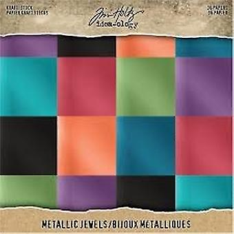 Idea-ology Tim Holtz Kraft-Stock 8x8 Cal metalowe klejnoty