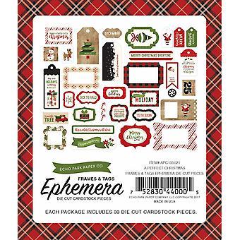 エコーパーク パーフェクトクリスマスエフェメラフレーム&タグ