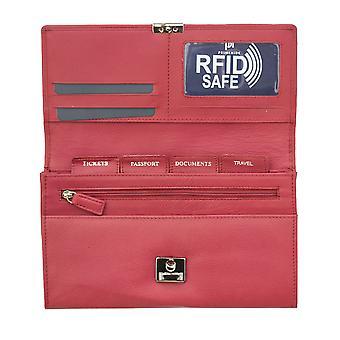 Primehide Womens Leather Travelcard Holder Organiser Wallet RFID Blocking 449