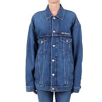 Balenciaga 620746tdw146020 Women's Blue Cotton Outerwear Jacket