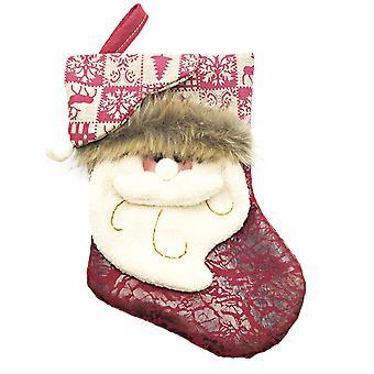 Small Christmas Stockings Santa Claus Hanging Ornament