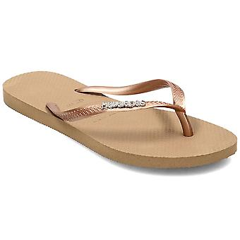 Havaianas Slim Logo Metallic 41198755282 universal summer women shoes