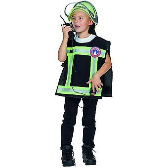Feuerwehr Weste Kinder Feuerwehrmann Kostüm Feuerwehr 2-teilig mit Walkie-Talkie