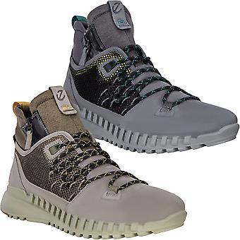 Ecco Mens ZipFlex Leather Outdoor Felxible Walking Hiking Trekking Boots Shoes