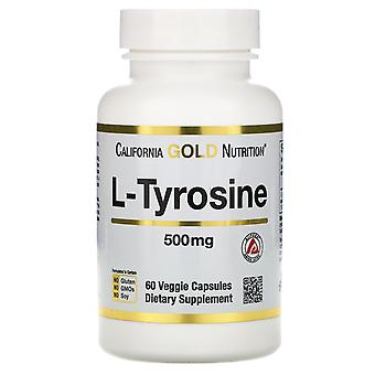 California Gold Nutrition, L-Tyrosine, AjiPure, 500 mg, 60 Veggie Capsules