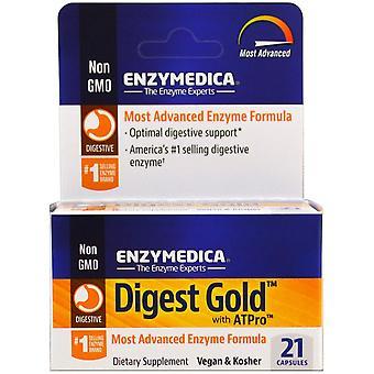 Enzymedica, Digest Gold avec ATPro, 21 Capsules