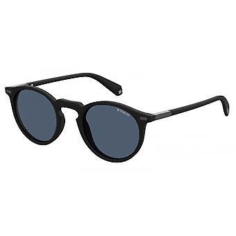 نظارات شمسية للجنسين 2086/S 003/C3 مات الأسود مع نظارات رمادية