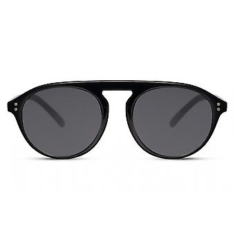 Sunglasses Unisex panto full-edged kat. 3 black/black