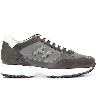 Hogan Ezcr044004 Mænd's Grå Ruskind Sneakers