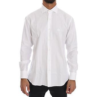 Cavalli White Striped Slim Fit Shirt TSH1496-3