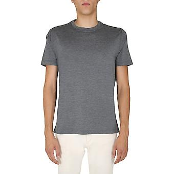 Brunello Cucinelli Mtb461308c572 Men's Grey Silk T-shirt