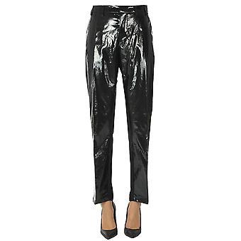N°21 Ezgl068217 Femmes'pantalon en polyuréthane noir