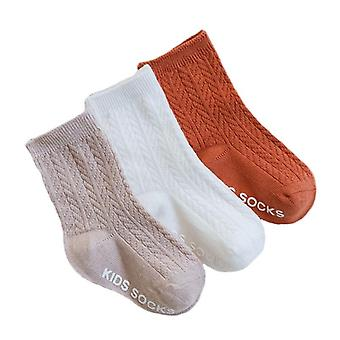 Children's Socks Solid Striped Summer Spring Anti Slip For Girls Boys
