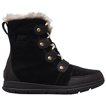 Sorel Explorer Joan Boots - Black / Dark Stone