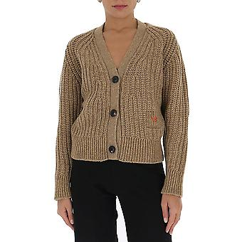 Victoria Beckham 1320kju001527a Women's Beige Wool Cardigan