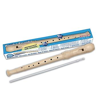 Bontempi wooden recorder German fingering flute ideal for children