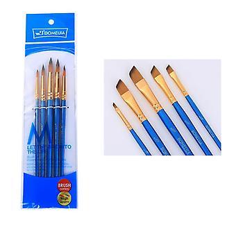 Nylon Hair, Short Rod Paint Brush Set-professional Art Supplies