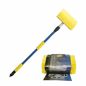 Hyfive telescopic brush 1.8 m with hose adapter for window and car cleaning medium flow