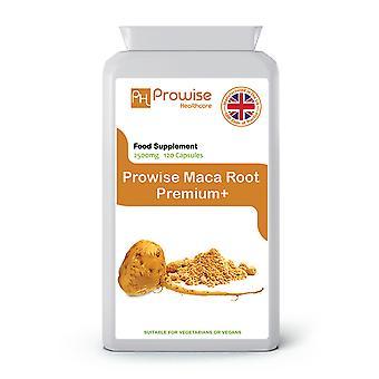Maca Root 2500mg 120 Capsules | Suitable For Vegetarians & Vegans | Made In UK