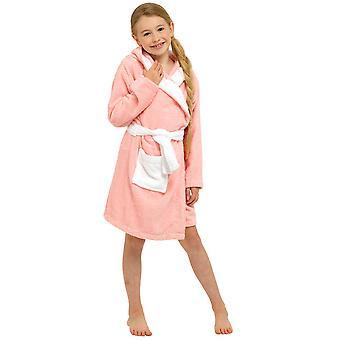 Girls Bunny Hooded Towelling Robe