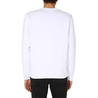 Msgm 2940mm6820759901 Men's White Cotton Sweatshirt
