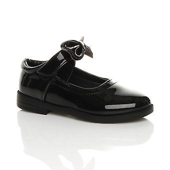 Ajvani tytöt matala kantapää rusetti hihna muodollinen Mary jane koulun kengät