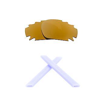 الاستقطاب استبدال العدسات عدة ل Oakley تنفيس سباق سترة الذهب الأبيض المضادة للخدش المضادة للوهج UV400 من قبل SeekOptics