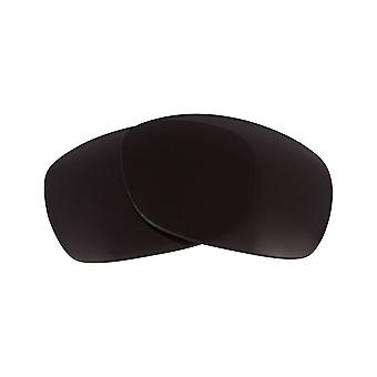 Replacement Lenses for Oakley Sideways Sunglasses Anti-Scratch Dark Black