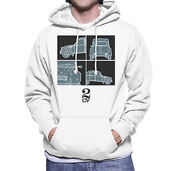 Citro?n 2CV Black Glamour Close Ups Men's Hooded Sweatshirt