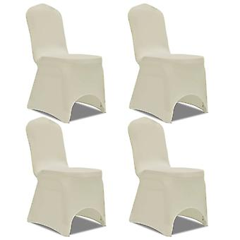 Stretch chair cover 4 pieces cream