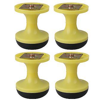 4szt Anti Scratch Floor Protector Table Bed Kierunkowe Stopy Żółty 8cm