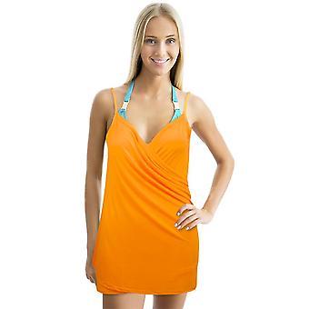 שמלת חוף ללא משענת לעטוף, אורנג '