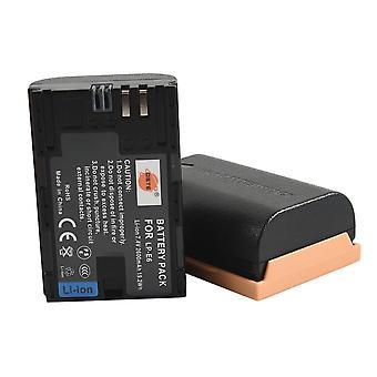 Dste® 2x lp-e6 lp-e6n baterie li-ion reîncărcabilă pentru canon eos 5d mark ii, eos 5d mark iii, eos 5