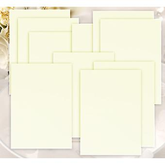 10 Menu Inserts for Ivory Textured Range