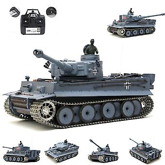 Heng Long RC Tank German Tiger I, 1:16 Grigio 2.4GHz Pro Modello Metal Gearbox