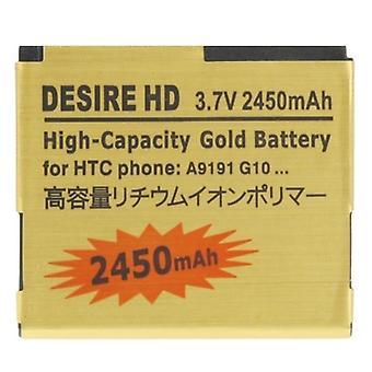 2450mAh Batterie d'or de haute capacité pour HTC Desire HD