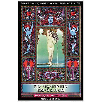 Woodstock Concert Promo affiche Poster Print