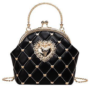 Upgraded Version Embroidery Women Leather Handbag / Vintage Heart Design