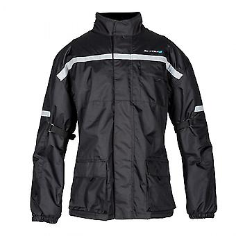 Spada Aqua Motorcycle Jacket Black Waterproof Quilt Lined Reflective Winter