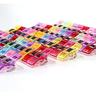 60 Fabric Clips - Wonder Clips Multicolor Sewing Accessories Plastic Patchwork Multi-use Sewing Machine Helper Haberdashery | 60 Pieces