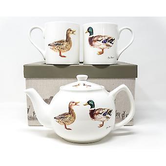Jane Bannon Quackers For You Teapot Set (Paquete de 3)