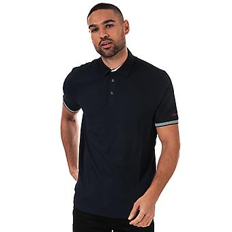 Men's Ted Baker Clubtwo Textured Polo Shirt in Blauw