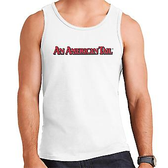 An American Tail Classic Red Text Logo Men's Vest