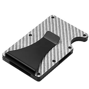 Card Wallet Card Holder Man, Slim Fashion RFID Carbon Fiber Wallet