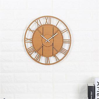 Modern wall clock round silent movement skeleton roman numeral home minimalist room clock
