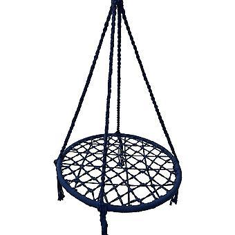 Nestschaukel blau - 80 cm Durchmesser - bis zu 150 kg - 100 cm Seile